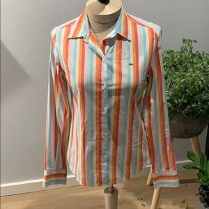 Lacoste slim fit buttoned shirt women's sz36